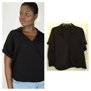 Eloquii Crossover Top with Collar - Like NEW!